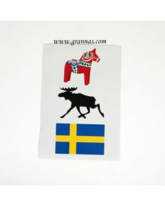 Aufkleber Schwedenmotive