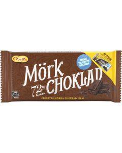 Cloetta Mörk Choklad 72% Utan Tillsatt Socker 100g