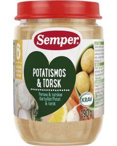 Semper Potatis/Torsk 6 MÅN KRAV EKO 190g