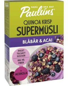 Müsli Quinoa Crisp Blåbär/Acai PAULÚNS, 400g