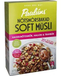 Soft Müsli Hasselnöt/Hallon PAULÚNS, 375g
