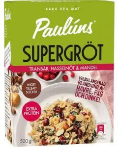 Supergröt Tranbär/Hasselnöt/Mandel PAULÚNS, 500g
