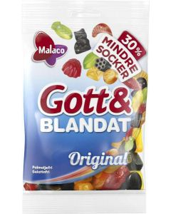 Malaco Gott & Blandat Original 30% mindre socker 140g