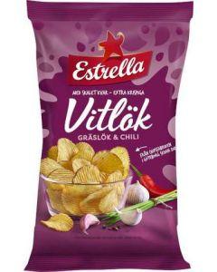 Chips Vitlök/Gräslök/Chili Estrella, 275g