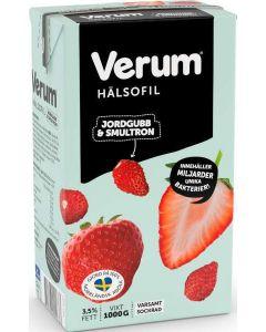 Verum Hälsofil Jordgubb & Smultron 3,5% 1l
