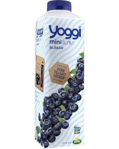 Yoggi Mini Blåbär 0,1% 1l