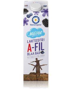 Skånemejerier A-fil Blåa bär 2,7% 1l Laktosfri