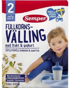 Semper Fullkornsvälling Frukt & Yoghurt 2 År 725g