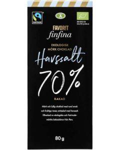 Choklad Havssalt FAVORIT FINFINA, 80g Fairtrade und bio