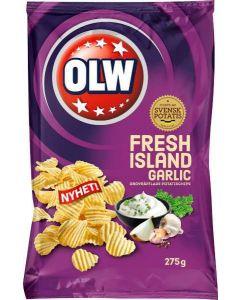 OLW Chips Fresh Island Garlic 275g