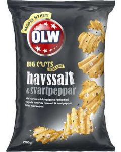 Chips BigCuts Havssalt & Svartpeppar OLW, 250g