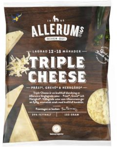 Allerums Triple Cheese-Reibekäse 150g