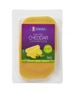 Cheddarost Mjölkfri Glutenfri Sojafri 200g Emborg