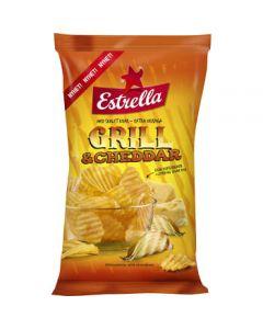 Estrella Chips Grill & cheddar 275g