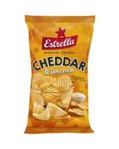 Estrella Chips Cheddar- & Sourcream 275g