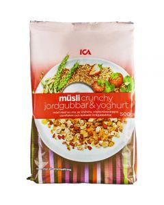 ICA Müsli Mix Crunchy Jordgubb & Yoghurt 500g
