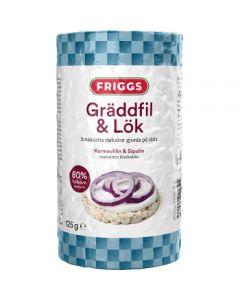 Friggs Riskakor med smak av Gräddfil & lök 125g