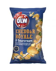 Chips Cheddar Royal & Sourcreme 275g OLW