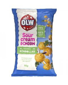 OLW Bönboll Vegansk Sourcream & Onion 90g