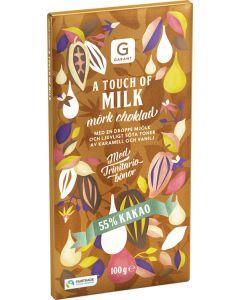 Garant A Touch of Milk mörkchoklad 55% Kakao, 100g