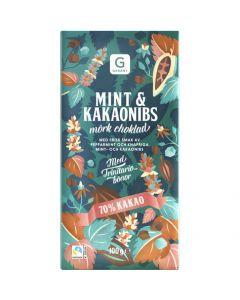 Garant Chokladkaka Mint& Kakaonibs 70% Kakao 100g