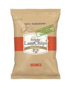 Svenska Lantchips Chili Habanero 200g