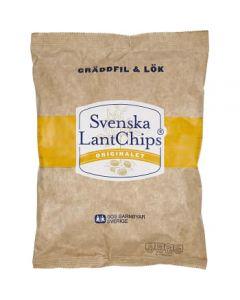 Svenska Lantchips Gräddfil & Lök 200g