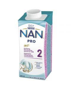 Bröstmjölkersättning NAN Pro2 6mån Drickfärdig 200ml Nestle