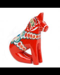 Dalapferd sitzend, 17cm