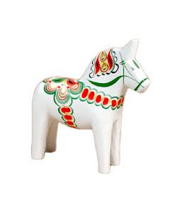 Dalapferd. weiß. 34cm