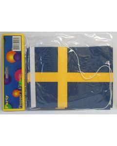 Schwedenfahne-Girlande 2,5m