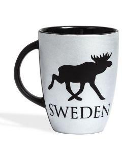 Tasse Sweden-Elch silbergrau