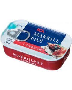 ICA Makrillfilé i tomatsås 125g