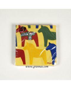 Dalapferd-Serviette gelb 17x 17cm 20st