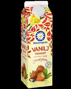 Skånemejerier Jordgubb Vanilj 1l  2,5%